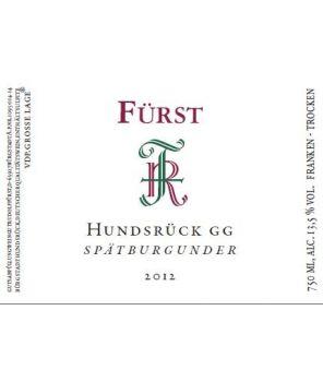 HUNDSRÜCK Spätburgunder (Pinot Noir) GG 2012 0,75l