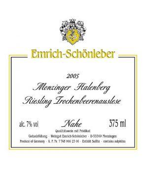 HALENBERG Riesling Trockenbeerenauslese GL 2005 0,375L