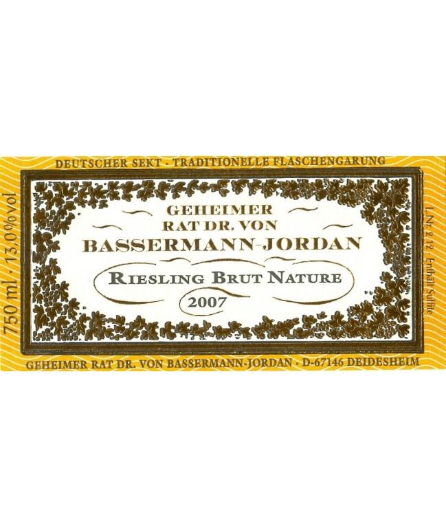 """""""Bassermann-Jordan Riesling Brut Nature"""" Sekt 2007 0,75l"""