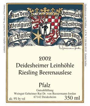 Leinhöhle Riesling BA 2002 0,375l