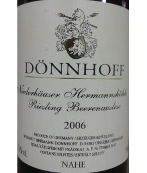 HERMANNSHÖHLE Riesling BA 2006 0,75l