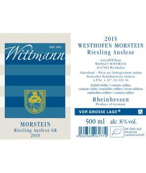 MORSTEIN Riesling Auslese-Goldkapsel GL 2015 0,5L
