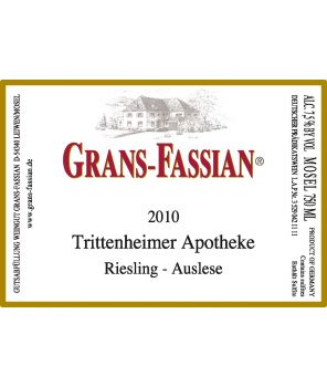 APOTHEKE Riesling Auslese-Goldkapsel GL 2010 0,75L