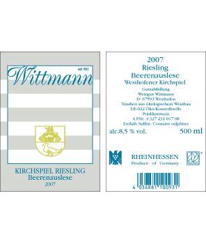 KIRCHSPIEL Riesling BA GL 2007 0,5L
