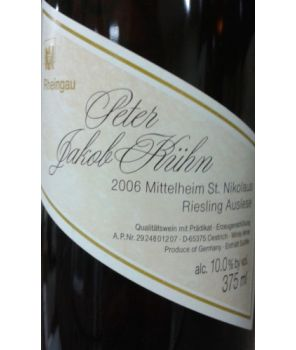 ST. NIKOLAUS Riesling Auslese GL 2006 0,375L