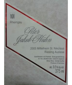 ST. NIKOLAUS Riesling Auslese GL 2005 0,375L